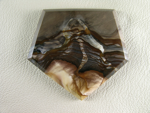 Biggs Jasper 886  :  I saw this Volcano in the slab and just had to showcase it.